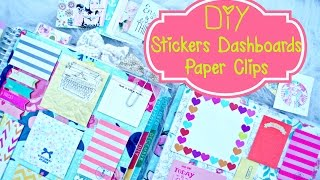getlinkyoutube.com-DIY Planner Supplies: Stickers, Paper Clilps, and Erin Condren Dashboard