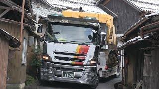 getlinkyoutube.com-『新』日本に2台しかない16輪ステアリング装置付トレーラーを操る神業師