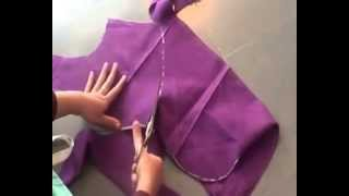 getlinkyoutube.com-blouse cutting in telugu by using old blouse part -01