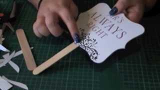 getlinkyoutube.com-DIY Wedding Signs, Props or Ceremony Fans