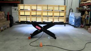 [PRO 1200 MOTORCYCLE LIFT DEMONSTRATION LIFTING 1,500 lbs!]