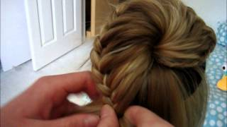 getlinkyoutube.com-Lace Braided Bun