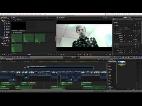 Final Cut Pro X Tutorial pt. 15 - Anamorphic Widescreen + Letterboxing