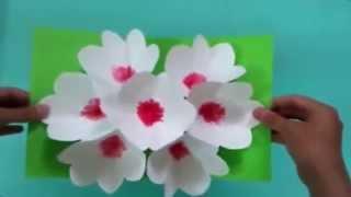getlinkyoutube.com-3Д открытка своими руками цветы на 8 марта