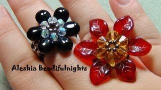 getlinkyoutube.com-Briolette Flower Beaded Ring & Pendant Tutorial