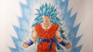 getlinkyoutube.com-Drawing Goku Super Saiyan Blue 3