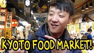 Kyoto Japan Street Food Tour! Nishiki Market width=
