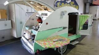getlinkyoutube.com-Vintage Teardrop Camper with 1956 Parklane Trim - 1993 Bailey Built Unit