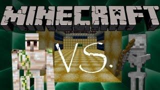 getlinkyoutube.com-EISENGOLEM VS. SKELETTE | Minecraft: Eisengolem vs. Monster • #02