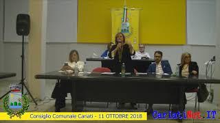 Consiglio Comunale Cariati 11 ottobre 2018   PARTE2
