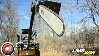 getlinkyoutube.com-Spartan Equipment Skid-Steer Limb Saw Attachment
