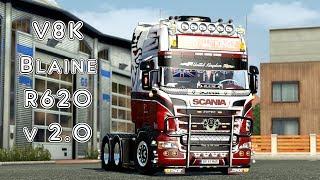 getlinkyoutube.com-Euro Truck Simulator 2 V8K Blaine R620 v 2.0