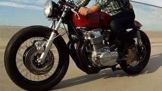 getlinkyoutube.com-Kott Motorcycles 1973 Honda CB750 Custom Cafe Racer GoPro Hero 3+