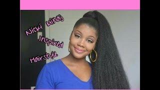 getlinkyoutube.com-Nicki Minaj Feeling Myself Inspired Hairstyle   Da