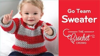 How to Crochet A Baby Sweater: Go Team Go Sweater
