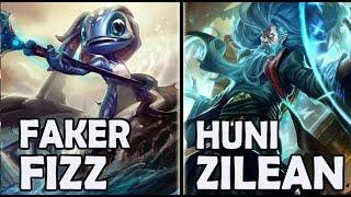 getlinkyoutube.com-Faker vs Huni - FIZZ vs ZILEAN - Rank #62 Korea Challenger 636LP