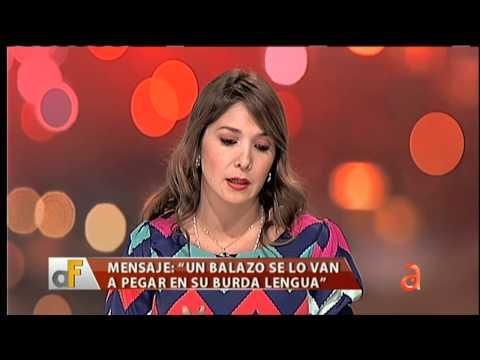 "Amenazan a actriz venezolana por la que dice en ""A Fondo"" - América TeVé"