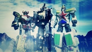 getlinkyoutube.com-Ninja Megazord MMPR / Kakure Daishogun - Animation test - CG robot