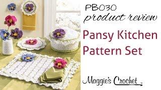 getlinkyoutube.com-Pansy Kitchen Set Crochet Pattern Product Review PB030