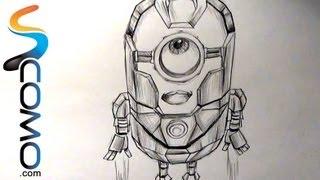 getlinkyoutube.com-Dibujar Minion Iron Man