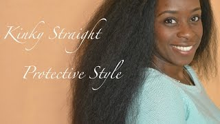 getlinkyoutube.com-$20 Kinky Straight Half Wig Tutorial: Deja Vu Perm Kinky Yaky U