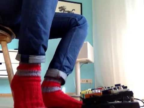 red socks, red strat, red house.  // Brunetti Single Man, Fender Strat