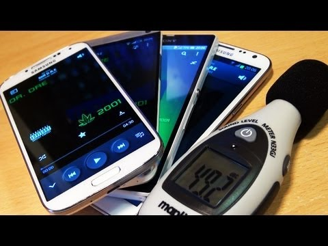 Samsung Galaxy S4 IV SPEAKER Test Vs HTC ONE, Sony Xperia Z, Note 2 II