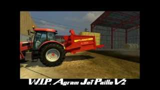 getlinkyoutube.com-[Farming Simulator 2013] straw blower Agram Jet de paille V2