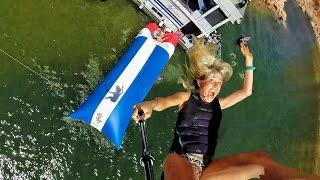 getlinkyoutube.com-Human Water Catapult - 55 Foot Launch! In 4k