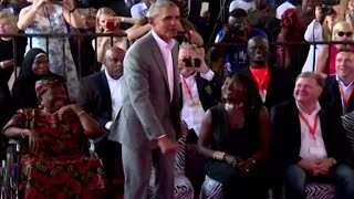 Former President Obama dances in Kenya