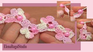 getlinkyoutube.com-Crochet Beaded Cord Made of Flowers Tutorial 68