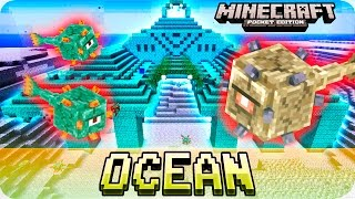 getlinkyoutube.com-Minecraft PE 0.16.0 Seeds - OCEAN MONUMENT at SPAWN! Water Temple Seed - 0.16.0 MCPE