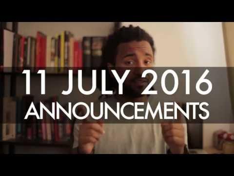 3 Announcements