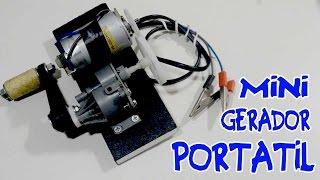 Mini gerador de energia portátil! - Como fazer!