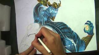 getlinkyoutube.com-SPEED DRAWING: Aurelion Sol | League of Legends.