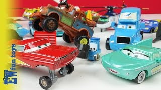 getlinkyoutube.com-Disney Pixar Cars Diecast Toys Part 3 Mattel with Mater New カーズ 2015