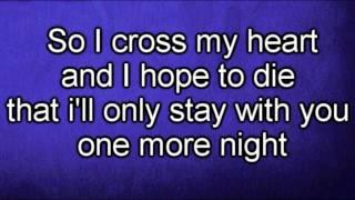 getlinkyoutube.com-Maroon 5 - One More Night (Lyrics)