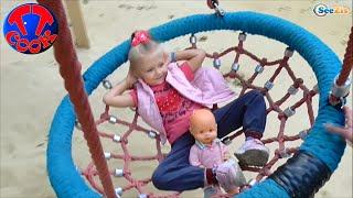 getlinkyoutube.com-✔ Кукла Ненуко и Ярослава на Детской Площадке в Парке. Видео для девочек / Nenuco Baby Doll ✔