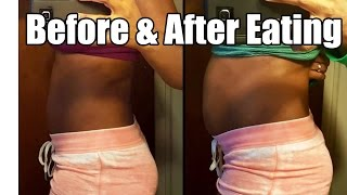 getlinkyoutube.com-My Stomach: Before & After Eating BIG Meal