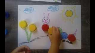 getlinkyoutube.com-Развивающая игра с крышками для детей 1-2 года