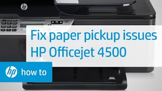 getlinkyoutube.com-Printer Does Not Pick Up Paper - HP Officejet 4500 Wireless All-in-One (G510n)