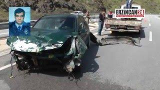 Erzincan'da Emekli Polis Memuru Kazada Hayatını Kaybetti
