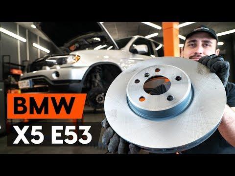 Как заменить передние тормозные диски на BMW X5 (E53) (ВИДЕОУРОК AUTODOC)