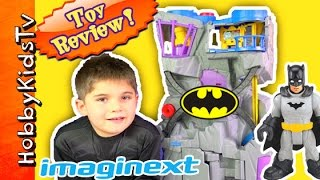 getlinkyoutube.com-Batman Imaginext Batcave! Robin Batwing Batmobile Joker Toy Review [Box Open] HobbyKidsTV