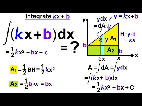 Calculus 2: How Do You Integrate? (4 of 300) Integral of kx+b
