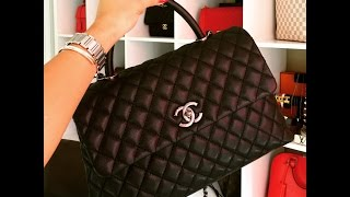 getlinkyoutube.com-CHANEL COCO HANDLE / What fits in it & More details
