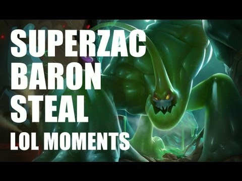 LoL Moments - SuperZac Baron Steal ! - League of Legends - S5 #61