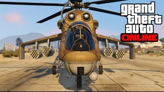 getlinkyoutube.com-GTA 5 Online: Savage, Attack Helicopter - The Best Helicopter - Heist Update