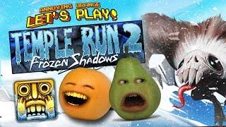 getlinkyoutube.com-Annoying Orange and Pear - TEMPLE RUN 2: FROZEN SHADOWS!