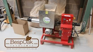 getlinkyoutube.com-Briquetting Machine Sawdust Ph Briquette Press Review